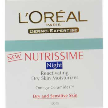 L'Oreal Nutrissime Night Reactivating Dry Skin Moisturizer