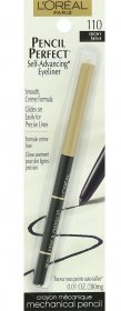 L'Oreal Paris Pencil Perfect Self-Advancing Eyeliner, Ebony 110